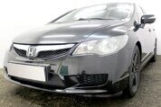 Защита радиатора Honda Civic 4D VIII (рестайлинг) 2008-2012 black